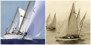 The Dorade boat in 1931 and now
