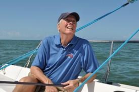 Steve Colgate Under Sail