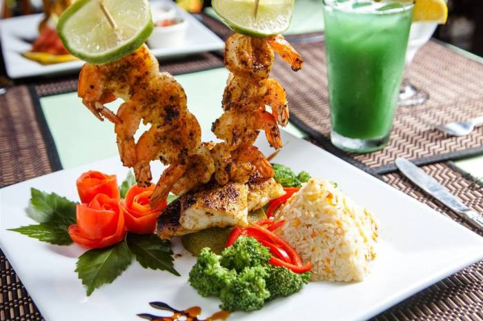 Laru-Beya-Resort-shrimp-skewers_700x465